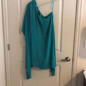 One shoulder loose dress